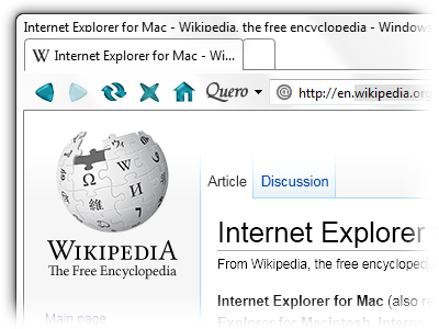 Internet Explorer for Mac Theme for IE9